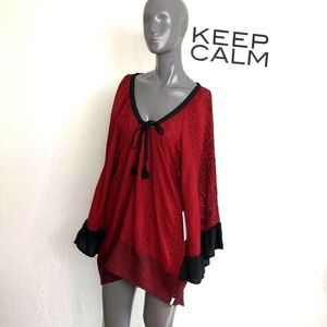 One Teaspoon San Juan Valley Deluxe Dress Red Mini